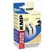KMP B9D Marken Tintenpatrone kompatibel mit Brother LC1000 Doppelpack Schwarz
