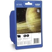Brother Tintenpatrone Standard Doppelpack 2 x 450 Seiten, 12,1ml LC1100B Schwarz