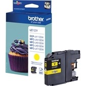 Brother Tintenpatrone LC123Y - 600 Seiten Yellow