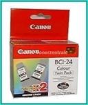 BCI24C - TWIN 2 x 3-farbig Druckkopf Canon S-200