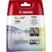 CANON PIXMA MP 240 - Multipack CL511 + PG510 - 220 Seiten, 9 ml, VE=2 Schwarz + Color