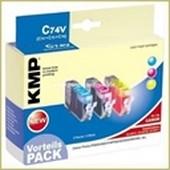 KMP C74V MultiPack (Kompatibel zu Canon CLI521) Tintenpatrone Cyan-Magenta-Yellow