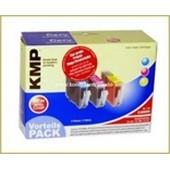KMP C67V MultiPack Inkcatridge (mit Chip!) Cyan, Magenta, Yellow kompatibel zu Canon CLi8 (mit Chip) kompatibel zu CLI8