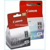 Multipack Canon CL41 Tintenpatrone (12ml) Color plus Canon PG40 (16ml) Schwarz
