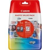 CANON PIXMA MG 2150 - Multipack PG540 CL541 + Fotopapier 10x15cm 50 Blatt - Schwarz + Color