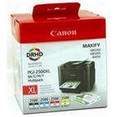 Canon IB 4050 - Multipack PGI2500XL - Schwarz 2.500 Seiten, Cyan, Magenta, Yellow je 1.755 Seiten