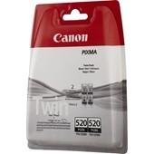 PGI-520BK - Canon Tintenpatrone Doppelpack je 19ml Schwarz pigmentiert