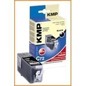 KMP C72 Tintenpatrone mit Chip (Kompatibel zu Canon PGI520) Schwarz Pigmentiert