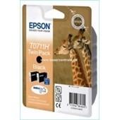 Epson T0711H Druckerpatrone Doppelpack Durabrite Ultra Schwarz 2 x 11,1ml