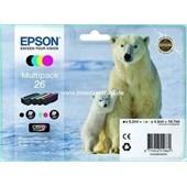 Epson Tinte T2616 - MultiPack 6,2ml Bk, je 4,5ml C,M,Y