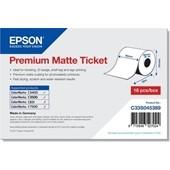 Epson ColorWorks C3400 C3500  C33S045389 - Premium Matte Ticket Rolle - 80 mm x 50 m