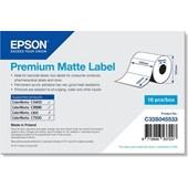 Epson C33S045533 - Premium Matte Label - Die-cut Roll: 102mm x 152mm, 225 labels