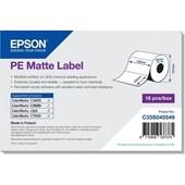 Epson C33S045549 - PE Matte Label - Die-cut Roll: 102mm x 152mm, 185 labels