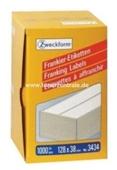 Zweckform Frankier Etiketten No. 3434 - 128x38mm weiß doppelt Packung 1000 Stück
