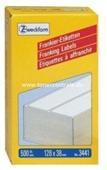 Zweckform Frankier Etiketten No. 3441 - 128x38mm weiß doppelt Packung 500 Stück