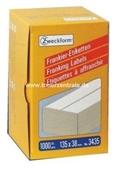 Zweckform Frankier Etiketten No. 3535 - 135x38mm weiß doppelt Packung 1000 Etiketten