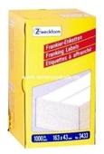 Zweckform Frankier Etiketten No. 3433 - 163x43mm weiß doppelt Packung 1000 Etiketten