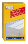 Zweckform Frankier Etiketten No. 3440 - 163x43mm weiß doppelt Packung 500 Etiketten