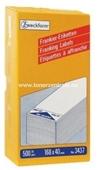 Zweckform Frankier Etiketten No. 3437 - 168x40mm weiß einzeln Packung 500 Stück