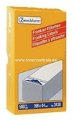 Zweckform Frankier Etiketten No. 3438 - 168x44mm weiß einzeln Packung 500 Etiketten