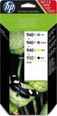 HP 940XL C2N93AE Multipack Tintenpatrone Schwarz, Cyan, Magenta, Yellow