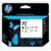 No. 72 - C9384A - HP Printhead Matt Schwarz und Yellow
