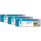 HP C9481A - HP MultiPack Tinte No.91 - 3 x 775 ml Photo Schwarz