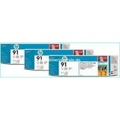 HP C9482A - HP MultiPack Tinte No.91 - 3 x 775 ml Light Grey