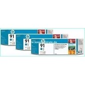 HP C9483A - HP MultiPack Tinte No.91 - 3 x 775 ml Cyan