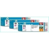 HP C9484A - HP MultiPack Tinte No.91 - 3 x 775 ml Magenta