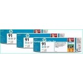 HP C9486A - HP MultiPack Tinte No.91 - 3 x 775 ml Light Cyan