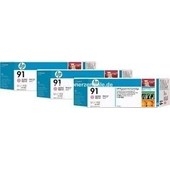 HP C9487A - HP MultiPack Tinte No.91 - 3 x 775 ml Light Magenta