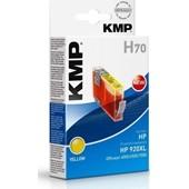 KMP H70 - Refill Tintenpatrone mit Chip (ersetzt HP No.920XL) 700 Seiten Yellow