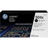 HP Color LaserJet CP 3530 - Toner CE250X D504X Doppelpack - je 10.000 Seiten Schwarz