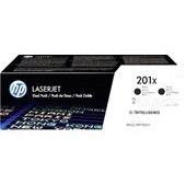 HP Color LaserJet Pro M 250 - Doppelpack CF400XD No. 201X - 2 x 2.800 Seiten Schwarz