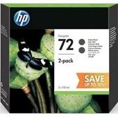HP Designjet T1100 - Druckerpatrone P2V33A 72 Doppelpack Schwarz 130 ml