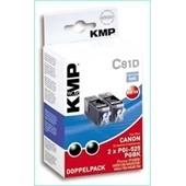 KMP C81D Tintenpatrone (ersetzt Canon PGI525)19ml Schwarz Pigmentiert Doppelpack