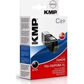KMP C89 Tintenpatrone (ersetzt Canon PGI-550PGBKXL) - 500 Seiten Schwarz Pigmentiert