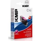 KMP C92 Tintenpatrone (ersetzt Canon CLI-551MXL) - 715 Seiten Magenta