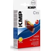 KMP C93 Tintenpatrone (ersetzt Canon CLI-551YXL) - 715 Seiten Yellow