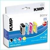 KMP H71V Tintenpatrone - ersetzt HP 940XL-CG898A - Multipack Schwarz Cyan Magenta Yellow