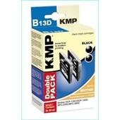 KMP B13D Doppelpack Tintenpatrone (ersetzt Brother LC970BK) (2) Schwarz