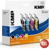 KMP B33V XXL Tintenpatrone (ersetzt Brother LC985) Multipack 14ml, 550 Seiten  Schwarz, je 14ml, 900 Seiten Cyan, Magenta, Yellow