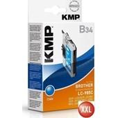 KMP B34 XXL Tintenpatrone (ersetzt Brother LC985) 14ml, 900 Seiten Cyan
