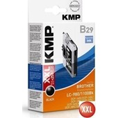 KMP B29 Tintenpatrone (ersetzt Brother LC980BK und LC1100BK) 14ml Schwarz