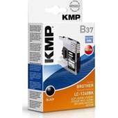 KMP-B37 - Tintenpatrone (ersetzt Brother LC124BK) Pigmentiert 600 Seiten Schwarz