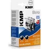 KMP-B37D - Tintenpatrone (ersetzt Brother LC124BK) Pigmentiert Doppelpack je 600 Seiten Schwarz