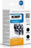 KMP B41D Doppelpack - ersetzt Brother LC123B Schwarz 2 x 600 Seiten