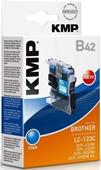 KMP B42 Tintenpatrone - ersetzt Brother LC123C - 600 Seiten Cyan
