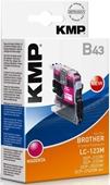 KMP B43 Tintenpatrone - ersetzt Brother LC123M - 600 Seiten Magenta